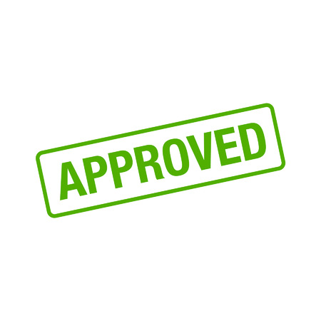 approved stamp: Approved rubber stamp seal flat icon