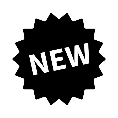 feature: New feature or product badge flat icon for apps and websites