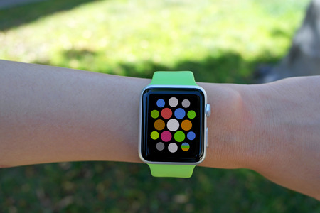 Smart watch - smartwatch - with apps on wrist