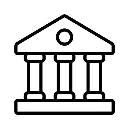 앱 및 웹 사이트를위한 금융 기관 은행 라인 아트 아이콘