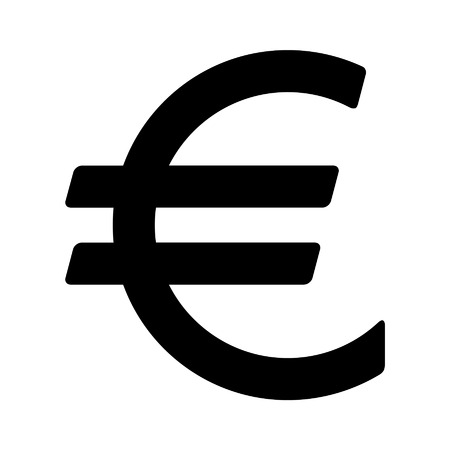 currency symbol: European Euro currency symbol flat icon for apps and websites Illustration