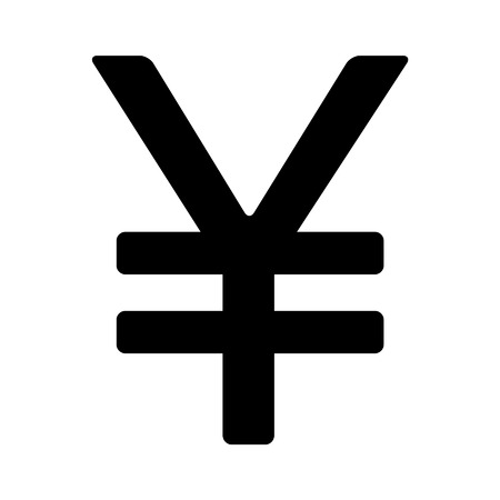 japanese yen: Japanese Yen currency symbol flat icon for apps and websites Illustration