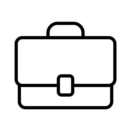 Work briefcase line art icon for apps and websites