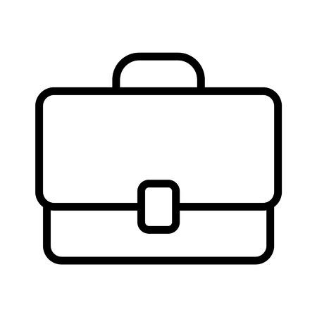 Werk aktetas lijntekeningen icoon voor apps en websites