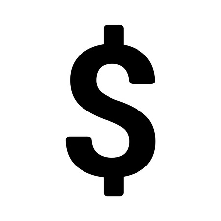 a sign: American Dollar currency symbol flat icon for apps and websites