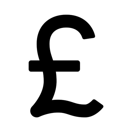 british pound: British Pound Sterling currency symbol flat icon for apps and websites