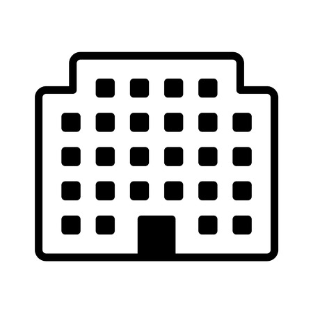 Corporation office building line art icon for apps and websites Illustration
