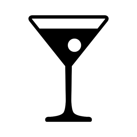 martinis: Martini cocktail with flat icon for apps and website