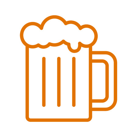 Beer mug line art icon for apps and websites