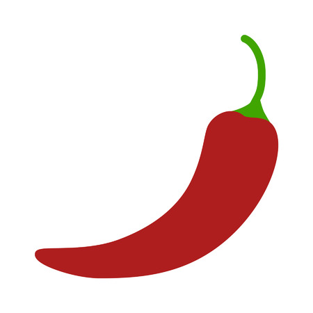 red chili pepper: Hot chili pepper flat icon for apps and websites
