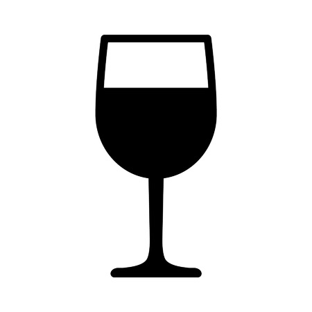 Wine tasting glass flat icon for apps and websites