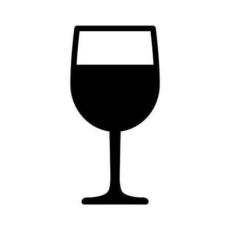sektglas: Weinkelch Flach Symbol für Apps und Websites Illustration