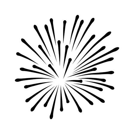 independencia: A�o Nuevo o el D�a de la Independencia icono de los fuegos artificiales Vectores