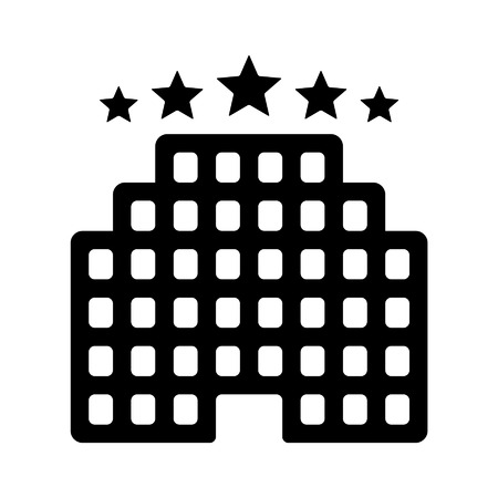 five star: Five star luxury hotel flat icon for apps and websites