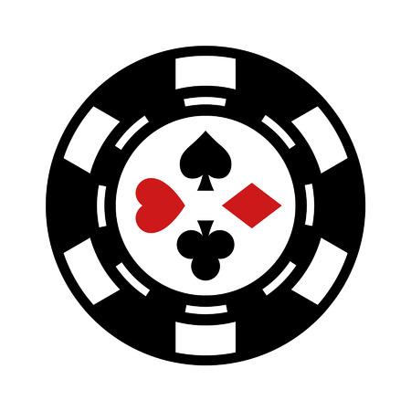 gambling chip: Icono plana chip de juegos de azar Casino de aplicaciones y sitios web