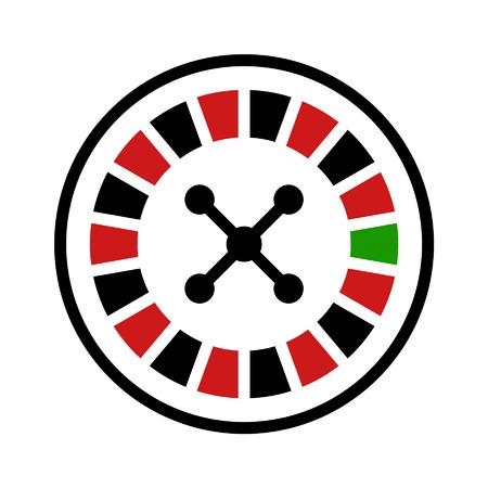 roulette: Casino roulette icona piatto per le applicazioni e siti web Vettoriali