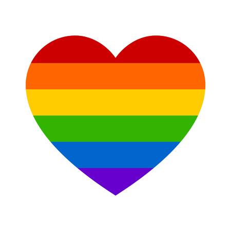 mariage: Le mariage gay arc coeur ic�ne plat pour les applications et sites Web