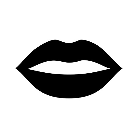 Kiss lips flat vector icon for apps and websites