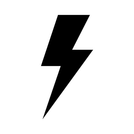 Lightning bolt expertise flat icon for apps and websites Vettoriali