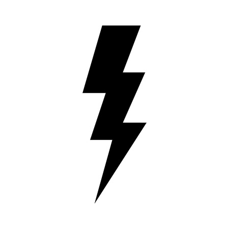 Lightning bolt expertise flat icon for apps and websites Ilustrace