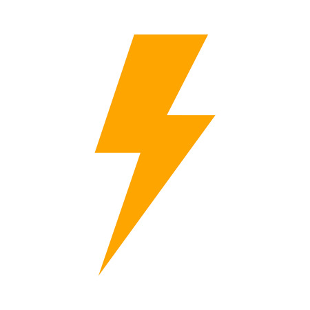 expertise: Lightning bolt expertise flat icon for apps and websites Illustration