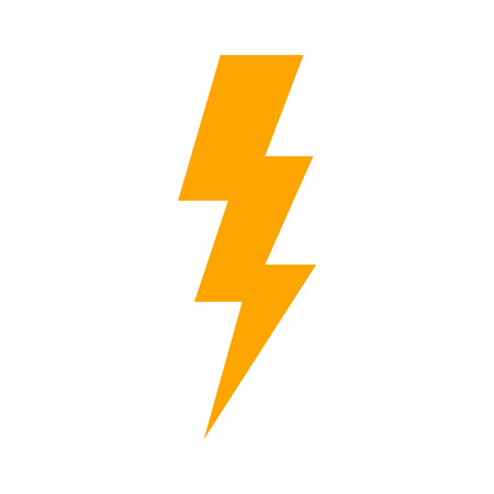Lightning bolt expertise flat icon for apps and websites Ilustração