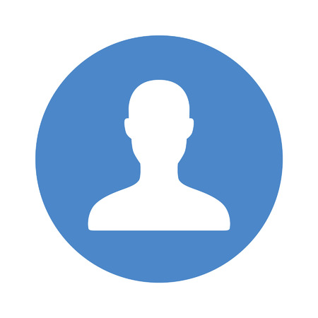 smart phone: Male user account rounded flat icon for apps and websites Illustration