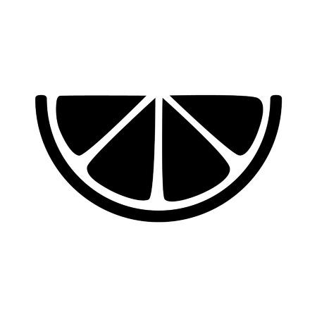 Lemon citrus slice flat icon for apps and websites