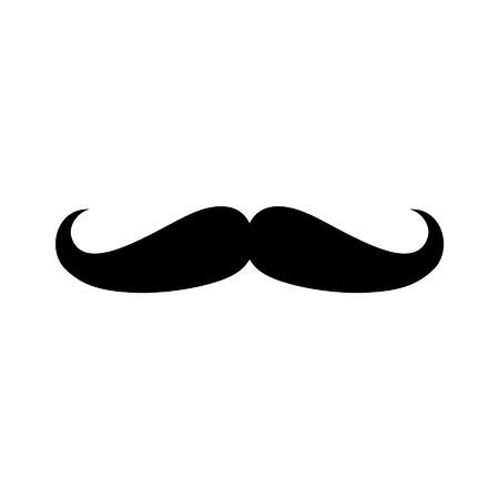 顔の毛口ひげ口ひげフラット アイコンのアプリとウェブサイト  イラスト・ベクター素材