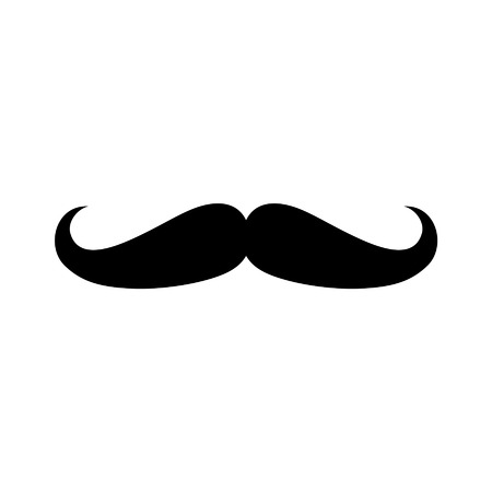 hair mask: Facial hair mustache moustache flat icon for apps and websites Illustration
