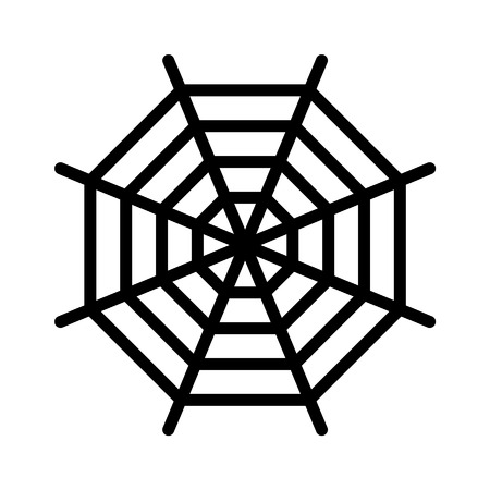 Spider web spiderweb line art icon for apps and websites