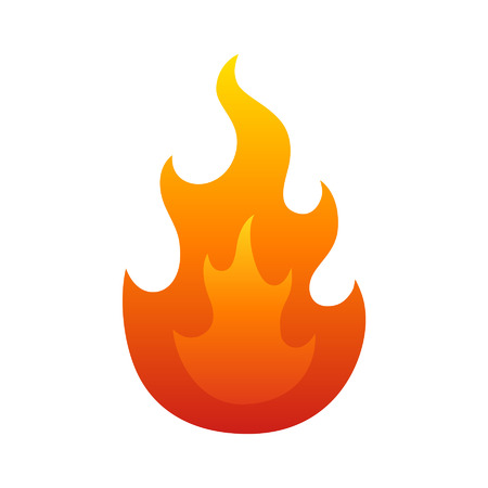 A burning fire icon for websites and print