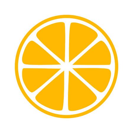 Citroen citrus half slice flat icoon voor apps en websites