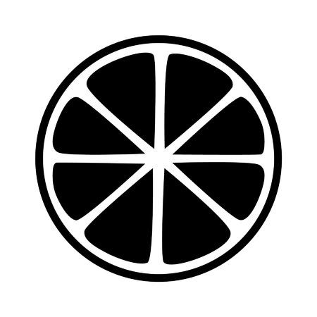 Citroen citrus helft slice flat icoon voor apps en websites