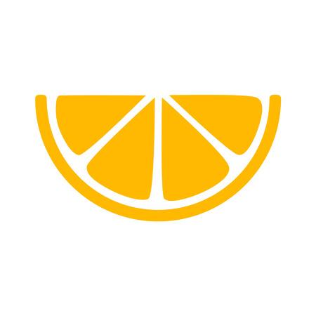 zest: Lemon citrus slice flat icon for apps and websites