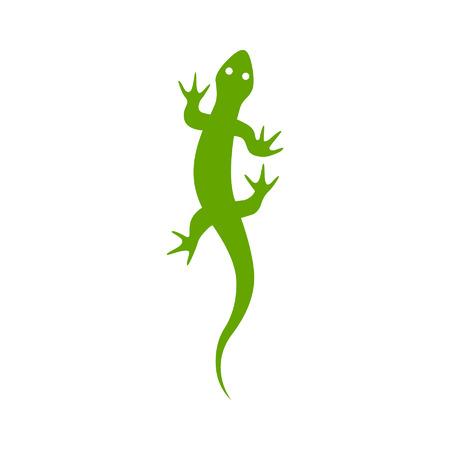 Gecko hagedis flat vector icon