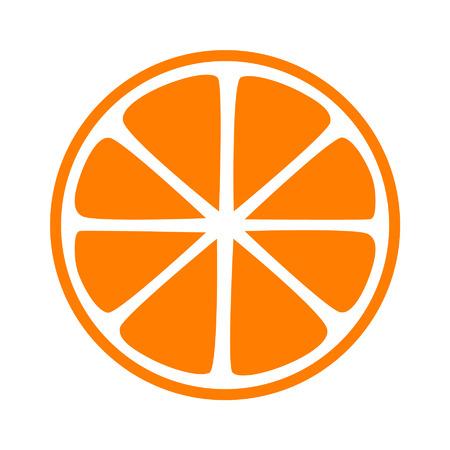 Orange half slice flat icoon voor apps en websites Stock Illustratie