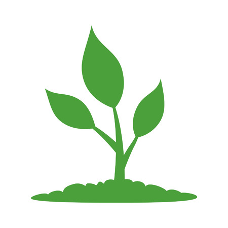 Natural plant life flat icon for apps and websites Ilustração