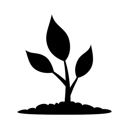 plant life: Natural plant life flat icon for apps and websites Illustration