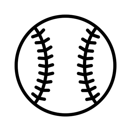 homer: Baseball line art icon for sports apps and websites