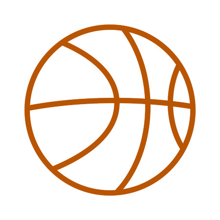 Basketball line art icon for sports apps and websites Illustration