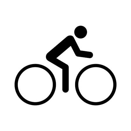 biking: Biking recreational exercise flat icon for apps and websites