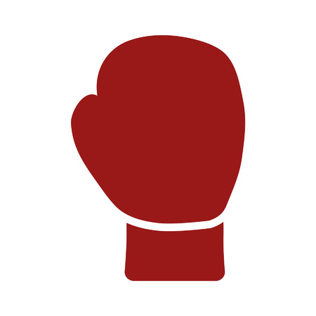 boxing glove: Boxing glove flat icon for sports apps and websites