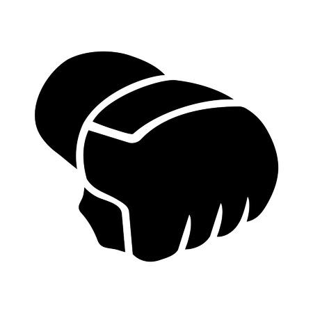 artes marciales mixtas: Artes Marciales Mixtas - MMA - guantes icono plana Vectores