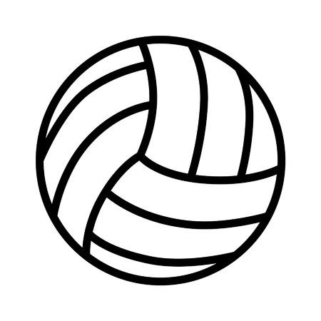 Volleybal bal lijntekeningen pictogram voor sport apps en websites