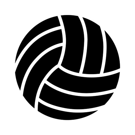Volleyball ball flat icon for sports apps and websites Ilustracja