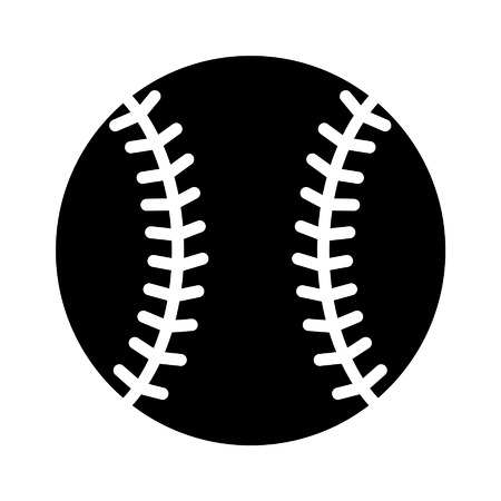 hardball: Baseball flat icon for sports apps and websites Illustration