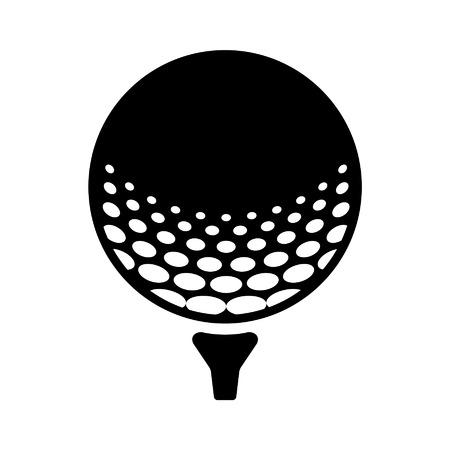 スポーツ アプリとウェブサイトのピン フラット アイコンのゴルフ ・ ボール