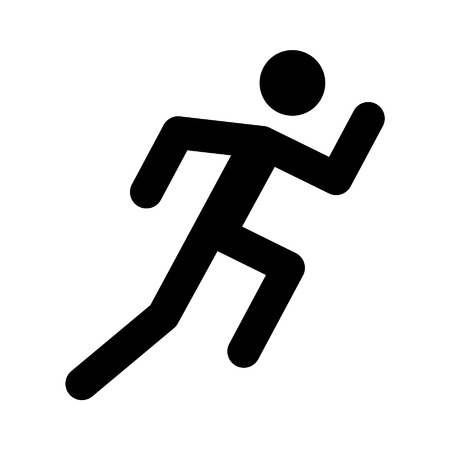 Recreation running flat icon for sports apps and websites
