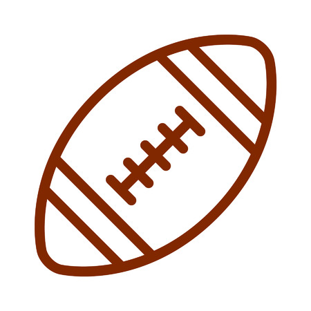gridiron: American gridiron football line art icon for apps and websites Illustration